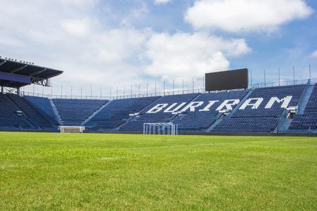 BURIRAM, THAILAND - SEP15, 2016: i-mobile stadion op 11 mei 2016. Het i-mobile stadion is het grootste voetbalstadion in Thailand. Stockfoto - 87197762