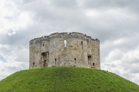 Cliffords Tower, a historical castle in York, England, UK