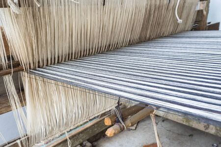 Tradition of  a loom weaving, Thailand 스톡 콘텐츠