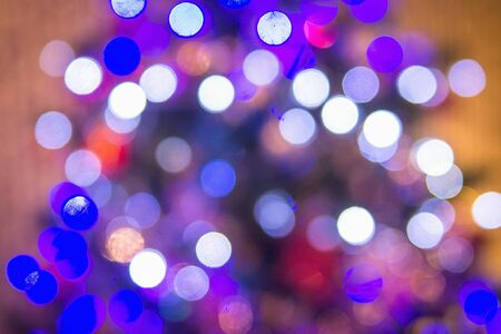 White and purple bokeh. Blur abstract background and texture.