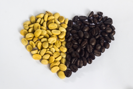 white and black coffee bean Imagens