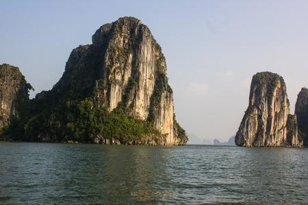 halong: so beautiful  view in halong bay,vietnam.