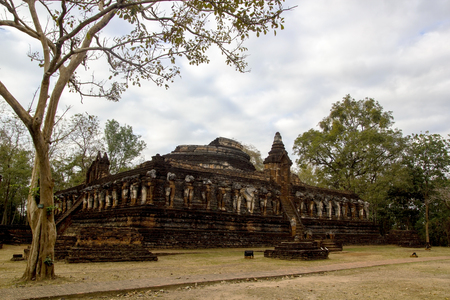 Histolical park in kamphaengphet province is one of the unesco world heritage site in thailand.