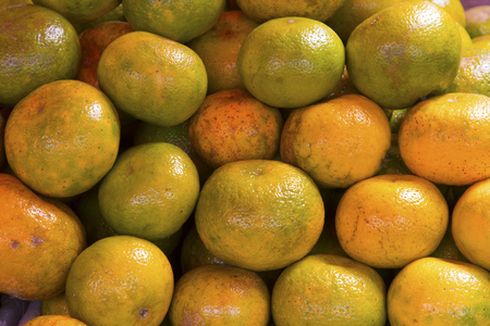 Healthy organic oranges at the market