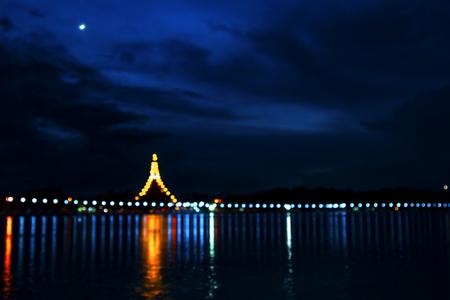 Scene of twilight at Nong Wang temple, Phra Mahathat Kaen Nakhon in Khon Kaen province, Thailand. Stock Photo