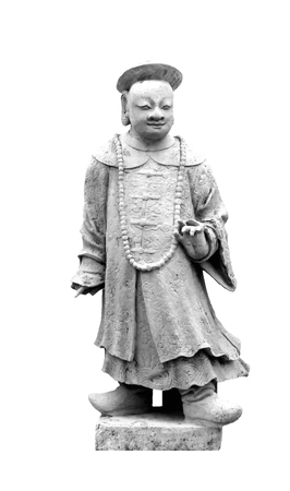 Isolated Chinese statue white background