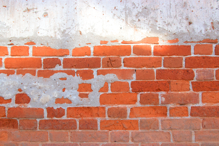 Old brick wall can use background image. Stock Photo