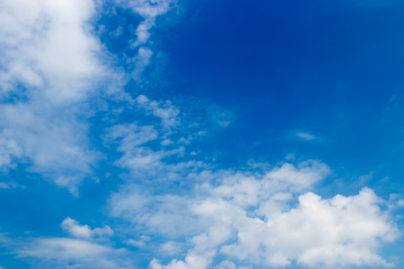 blue sky background with white clouds. Stock Photo