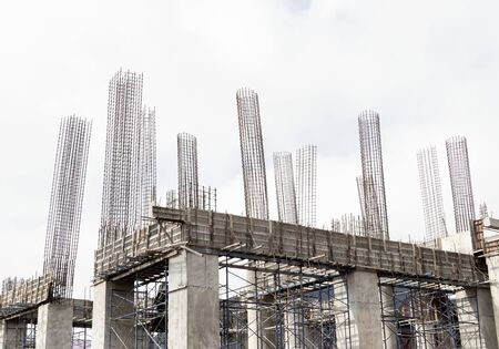 Construction site on sky background.
