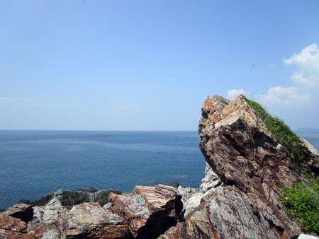 美しい海の崖 写真素材