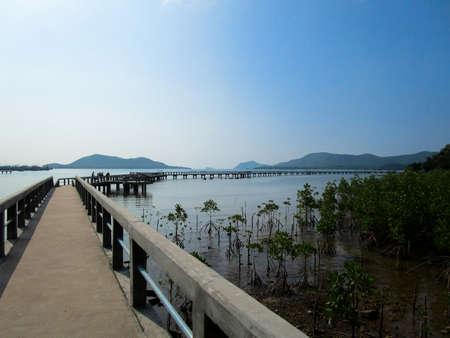 タイのカム島橋。 写真素材