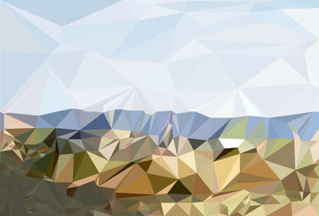 low: Abstract mountains  low poly Illustration