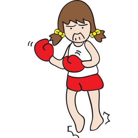 my favorite workout is boxing Illustration
