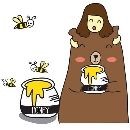 gusto: honey bear Illustration