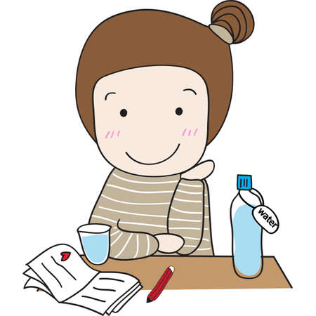 I do my homework by myself every day in the evening