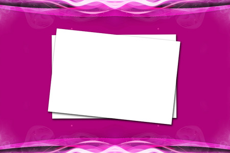 beautify: Overlap Paper On Violet Pink Background Stock Photo