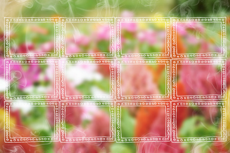colurful: Creating frames and smoke on colurful flower background
