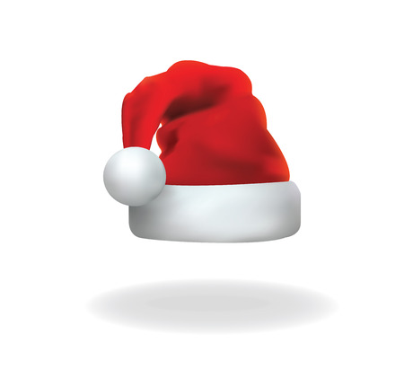 red hat: Vector of santa clause hat