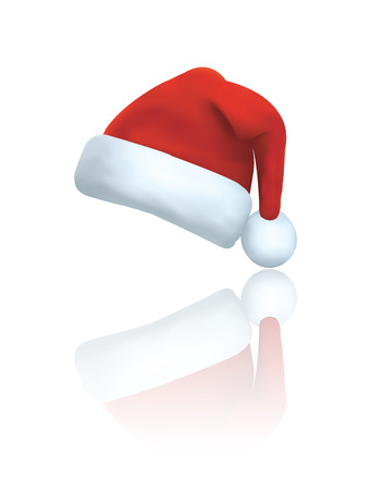 wearing santa hat: Vector of santa clause hat
