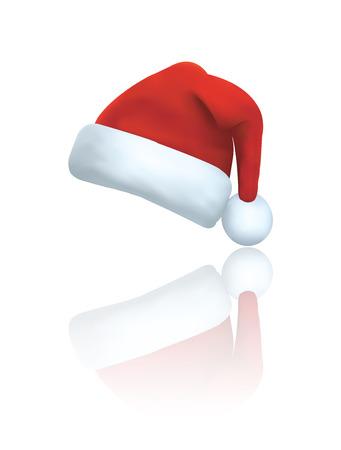 Vector van de Kerstman hoed Stock Illustratie