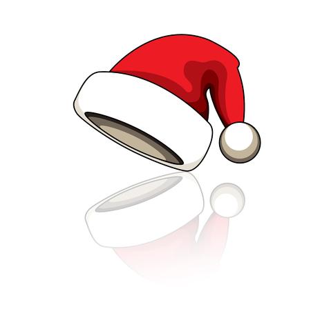 santa clause hat: Cartoon santa clause hat vector