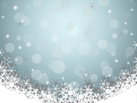 Christmas background with snowflake, gray and soft blue background vector Vettoriali