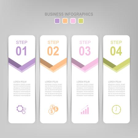 Infographicmalplaatje van vier stappen op vierkanten, markeringsbanner, het werkblad, vlak ontwerp van bedrijfspictogram, vector Stockfoto - 81954064