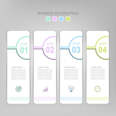 Infographicmalplaatje van vier stappen op vierkanten, markeringsbanner, het werkblad, vlak ontwerp van bedrijfspictogram, vector Stockfoto - 81965278