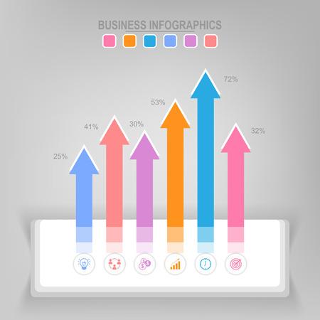 Infographicmalplaatje van stappen op vierkanten, markeringsbanner, het werkblad, vlak ontwerp van bedrijfspictogram, vector