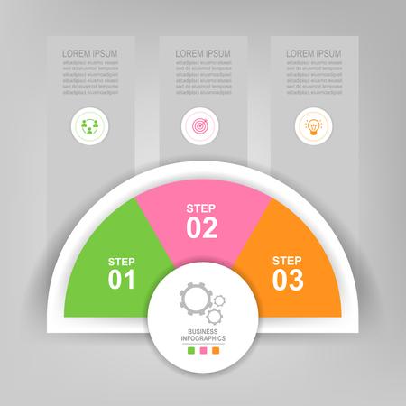 Infografisch sjabloon van kleurrijke cirkel, cirkeldiagram diagram, werkblad element, vlak ontwerp van bedrijfs icoon, vector Stockfoto - 82052655