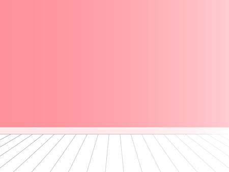 Roze muur met witte vloer, lege ruimte binnenlandse vector Stockfoto - 83362079