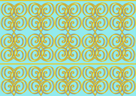 Abstract elegant blue and golden pattern Stock fotó