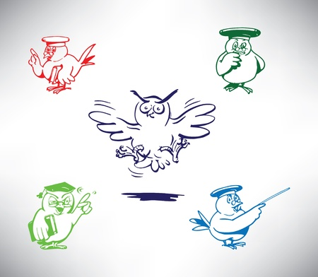 owl vector set Vector