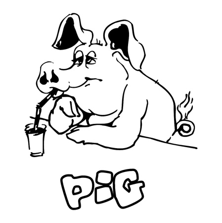 Cartoon Pig photo