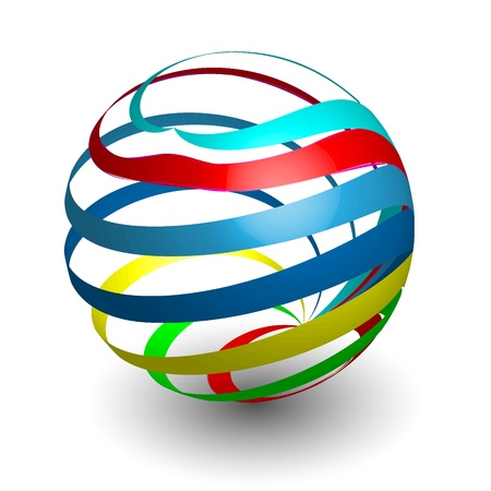 Sphere 3d design Stock Vector - 11565977