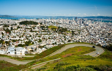 San Francisco skyline from twin peak photo