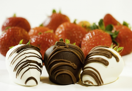 Fancy chocolate dipped strawberry   photo