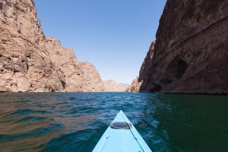 kayaking in beautiful day at lake Mead, Arizona Stock Photo - 16929957