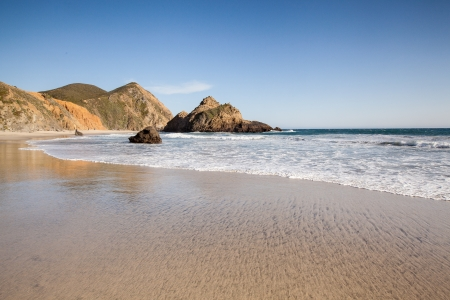 Tranquil beach in Pfeiffer state beach, California, US photo