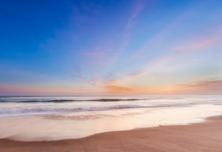 Beautiful sunset in southern california beach