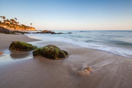 beautiful beach in Laguna Beach, CA, USA