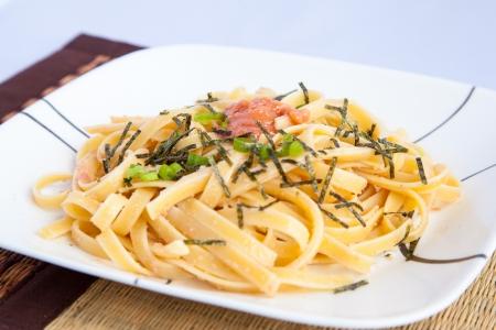 roe: Japanese style spicy cod roe spaghetti