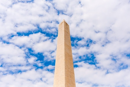 clound: Washington Monument in beautiful clound, Washington, DC Stock Photo