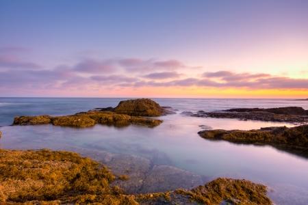 Beautiful sunset in Laguna Beach, California Stock Photo