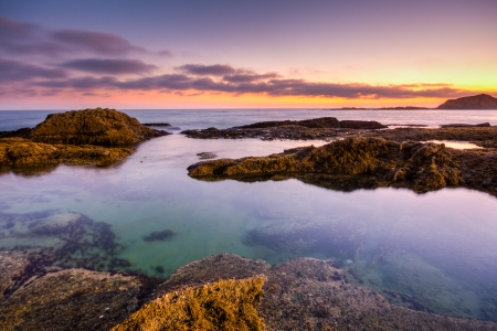 Beautiful sunset in Laguna Beach, California Stok Fotoğraf