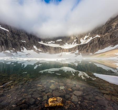 glacier national park: Iceberg lake, Glacier national park