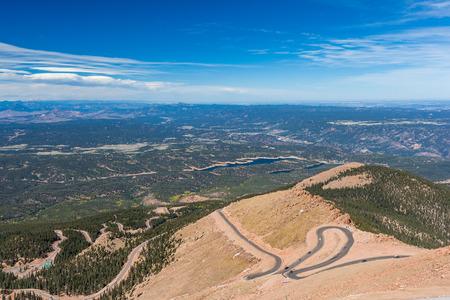 Road to Pike Peak summit, Colorado Spring, Colorado  photo