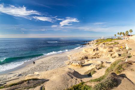 La Jolla cove beach, San Diego, California. Archivio Fotografico