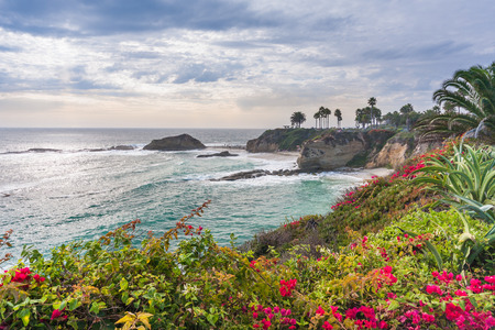 Beautiful park at Laguna Beach, California Banco de Imagens