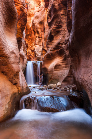zion: Kanarra creek slot canyon trail in Zion national park